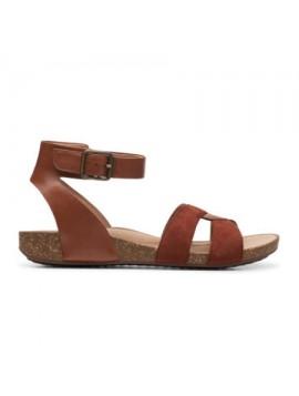 Sandales ouvertes en cuir Clarks