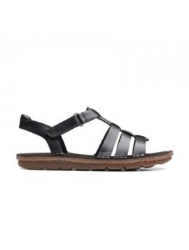 Sandales ouvertes noires Clarks