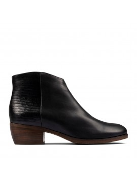 Bottines Noires Clarks