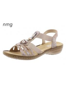 Sandales à talons beiges