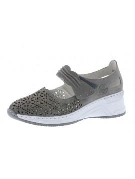 Sandales compensées grises