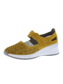 Sandales compensées jaunes