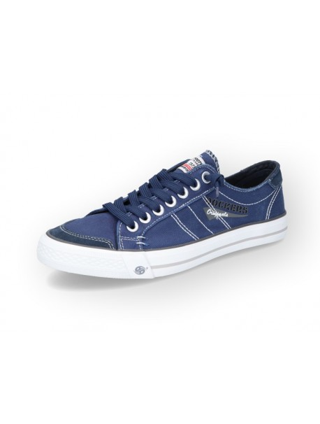 Baskets basses en bleu marine