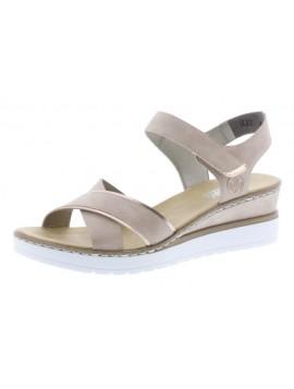 Sandales compensées blanches