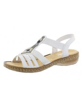 Sandales à talons blanches