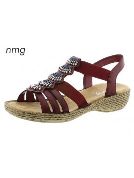 Sandales à talons rouges