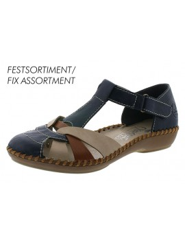 Sandales à talons bleu marine